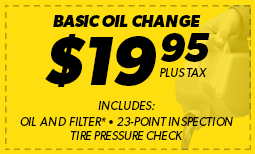 $19.95 Basic Oil Change Coupon