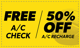 Free A/C Check & 50% Off A/C Recharge Coupon