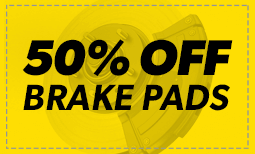 50% off Brake Pads Coupon