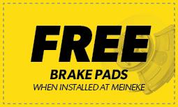 Free Brake Pads when installed at Meineke Coupon