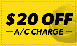 $20 Off A/C Charge Coupon