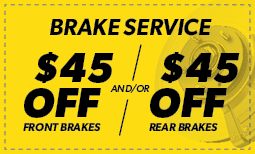 $45 Off Brake Special Coupon
