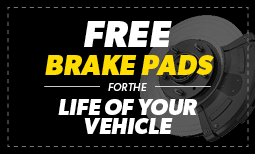 Free Brake Pads for Life of Your Vehicle Coupon