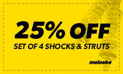 25% off set of 4 Shocks & Struts Coupon
