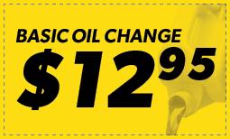 Basic Oil Change: $12.95 Coupon