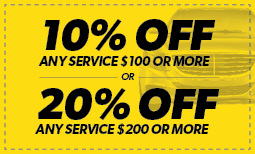10% Off Any Service $100 or more OR 20% off any service $200 or more Coupon