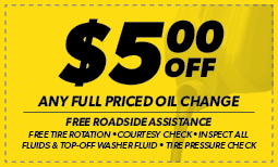 $5 Off Any Oil Change Coupon