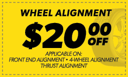 $20.00 Off Wheel Alignment Coupon