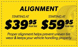Alignments Starting at $39.95 & $59.95 Coupon