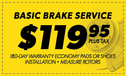 $119.95 Basic Brake Service Coupon