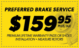 $159.95 Preferred Brake Service Coupon