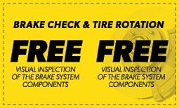 Free Brake Check & Tire Rotation Coupon