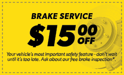 $15.00 Off Brake Service Coupon