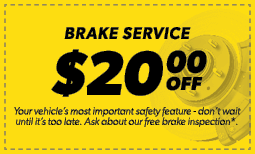 $20.00 Off Brake Service Coupon
