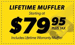 $79.95 Lifetime Muffler Coupon
