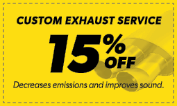 15% Off Custom Exhaust Service Coupon