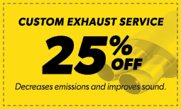 25% Off Custom Exhaust Service Coupon