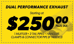 $250.00 Dual Performance Exhaust Coupon