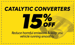 15% Off Catalytic Converters Coupon