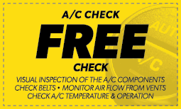 Free A/C Check Coupon
