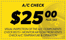 A/C Check $25.00 Coupon