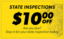 $10.00 Off State Inspections Coupon