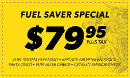 $79.95 Fuel Saver Special Coupon