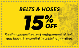 15% Off Belts & Hoses Coupon