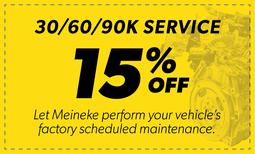 15% Off 30/60/90k Service Coupon