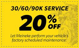 20% Off 30/60/90k Service Coupon