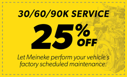 25% Off 30/60/90k Service Coupon