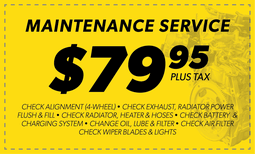 $79.95 Maintenance Service Coupon