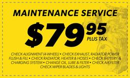 $79.95 Maintenance Service Coupon