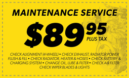 $89.95 Maintenance Service Coupon