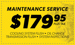 $179.95 Maintenance Service Coupon