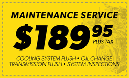 $189.95 Maintenance Service Coupon