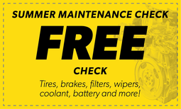 Free Summer Maintenance Check Coupon