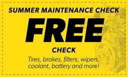 Free Summer Maintenance Check Coupon