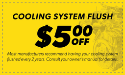 $5 Off Cooling System Flush Coupon