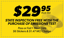 $29.95 PA State Inspection/Emissions Test Coupon