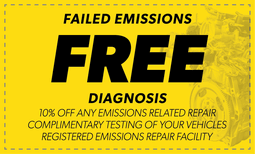 Free Failed Emissions Diagnosis Coupon