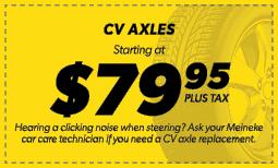 $79.95 CV Axles Coupon