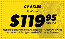 $119.95 CV Axles Coupon