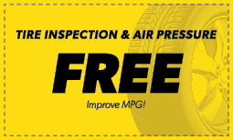 Free Tire & Air Pressure Inspection Coupon