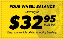 $32.95 Four Wheel Balance Coupon