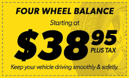 $38.95 Four Wheel Balance Coupon