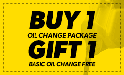 Buy One Oil Change Package, Gift One Basic Oil Change Free Coupon