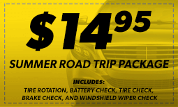 Summer Road Trip Package: $14.95 (No A/C) Coupon